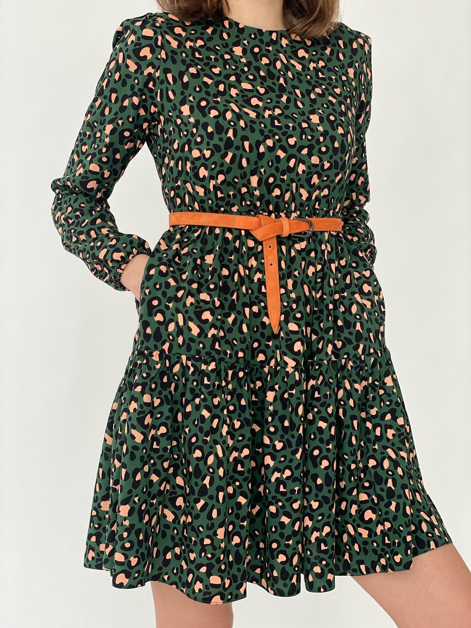Платье, Ballerina, 5051 (зеленый леопард)