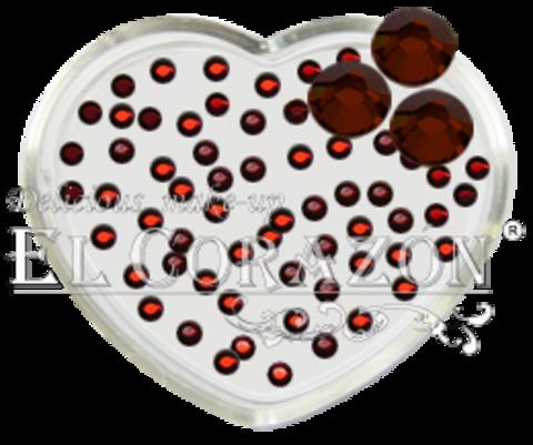 El Corazon Стразы стеклянные 100шт/110   SS6-красный
