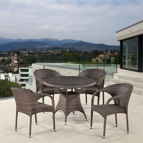 Комплект плетеной мебели T220CG/Y290BG-W1289 Pale 4Pcs