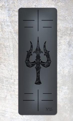 Каучуковый коврик для йоги Trident с разметкой 183*65*0,2-0,4 см