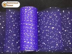 Фатин с  глиттером фиолетовый ширина 15 см