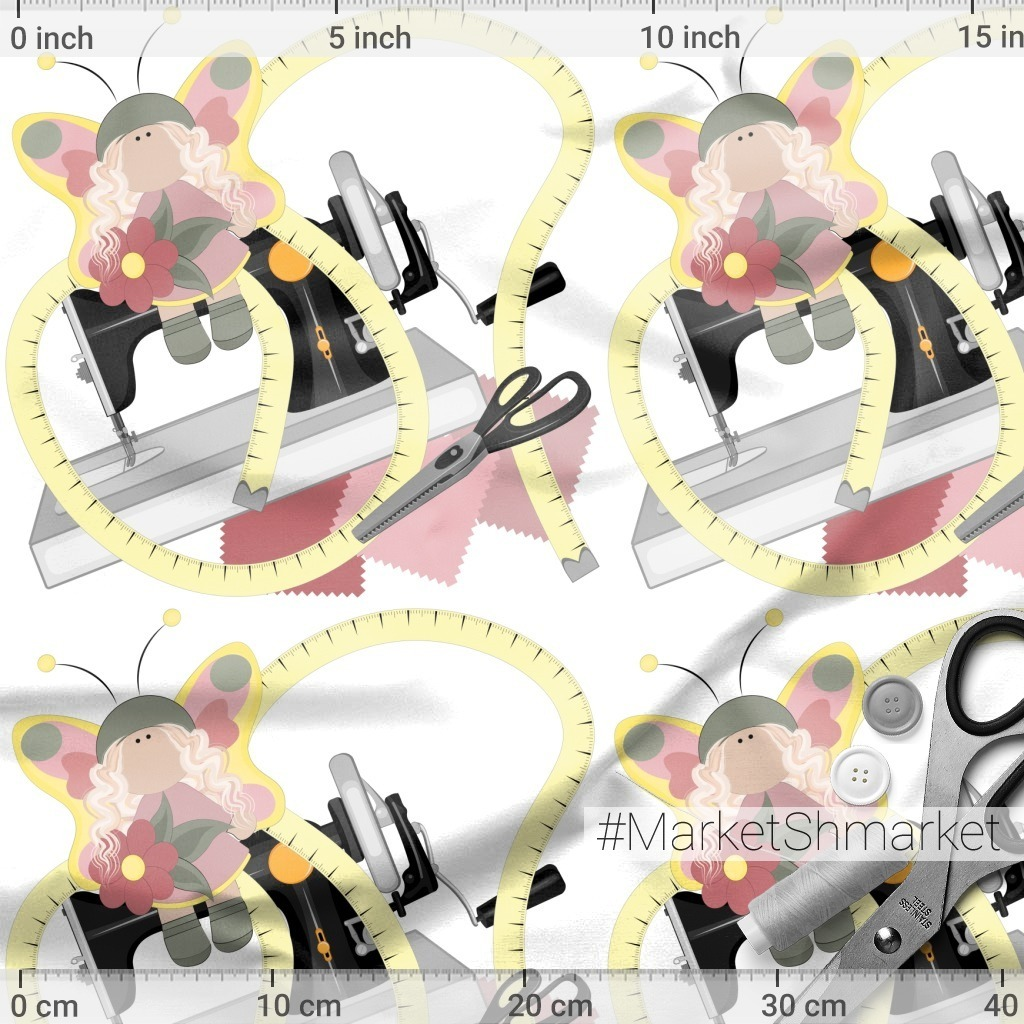Рукоделие и шитье - кукла на швейной машинке