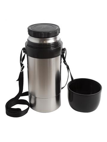 Термос для еды Амет DS Дорожный (1,25 литра) с широким горлом, на ремне