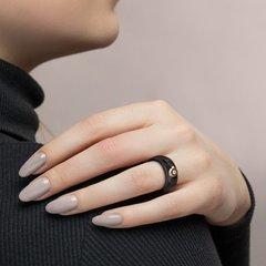 6015001 -Чёрное керамическое кольцо из золота с бриллиантом