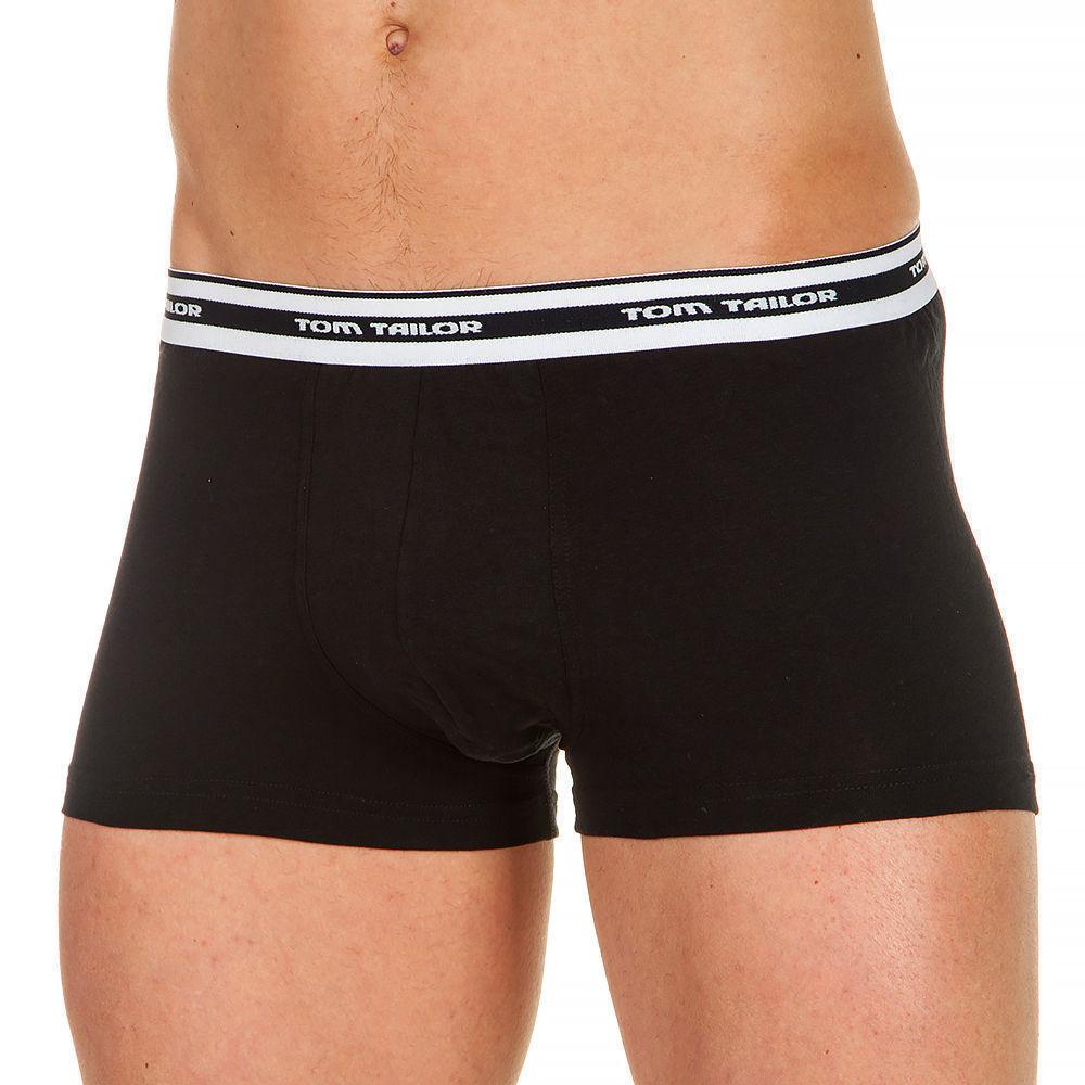 Трусы мужские хипсы черные с белой резинкой (black-dar) Tom Tailor 930