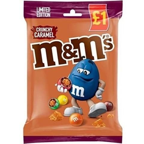 Шоколадное драже M&M's Crunchy caramel с хрустящей карамелью 80 гр