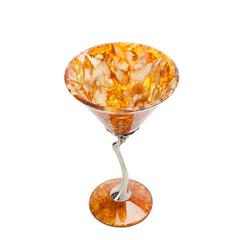 Бокал для мартини  из янтаря Лето ,бронза, фото 1