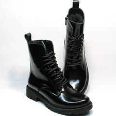 Женские ботинки черного цвета зимние Ari Andano 740 All Black.