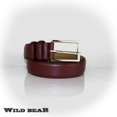 Ремень WILD BEAR RM-015f Vinous Premium