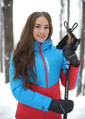 Утеплённая прогулочная лыжная куртка Nordski Montana Blue-Red женская