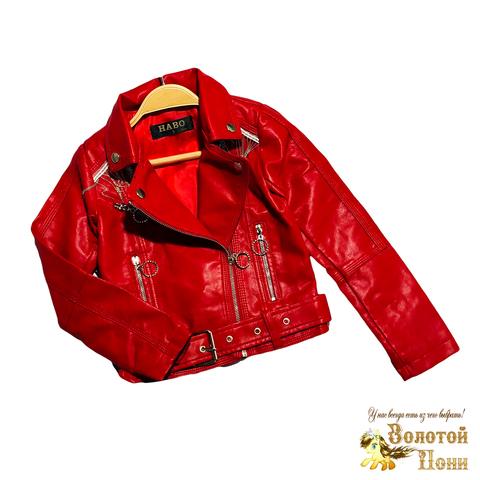 Куртка эко-кожа девочке (5-10) 210130-К2057