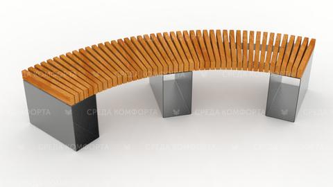 Полукруглая скамейка SCAM0052