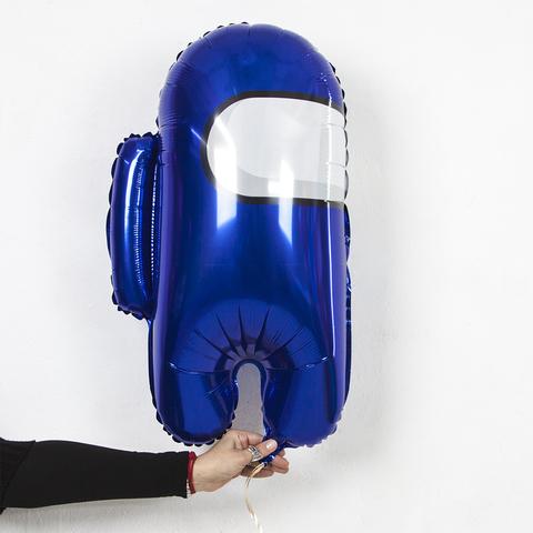 Фольгированная фигура космонавтик синий