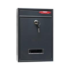 Ящик почтовый Onix ЯК 1 1-секционный металлический серый (215 x 85 x 320 мм)