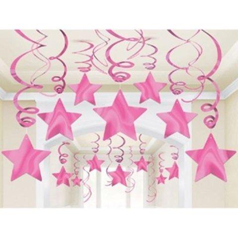 Спирали розовые Звезда Bright Pink 30 шт