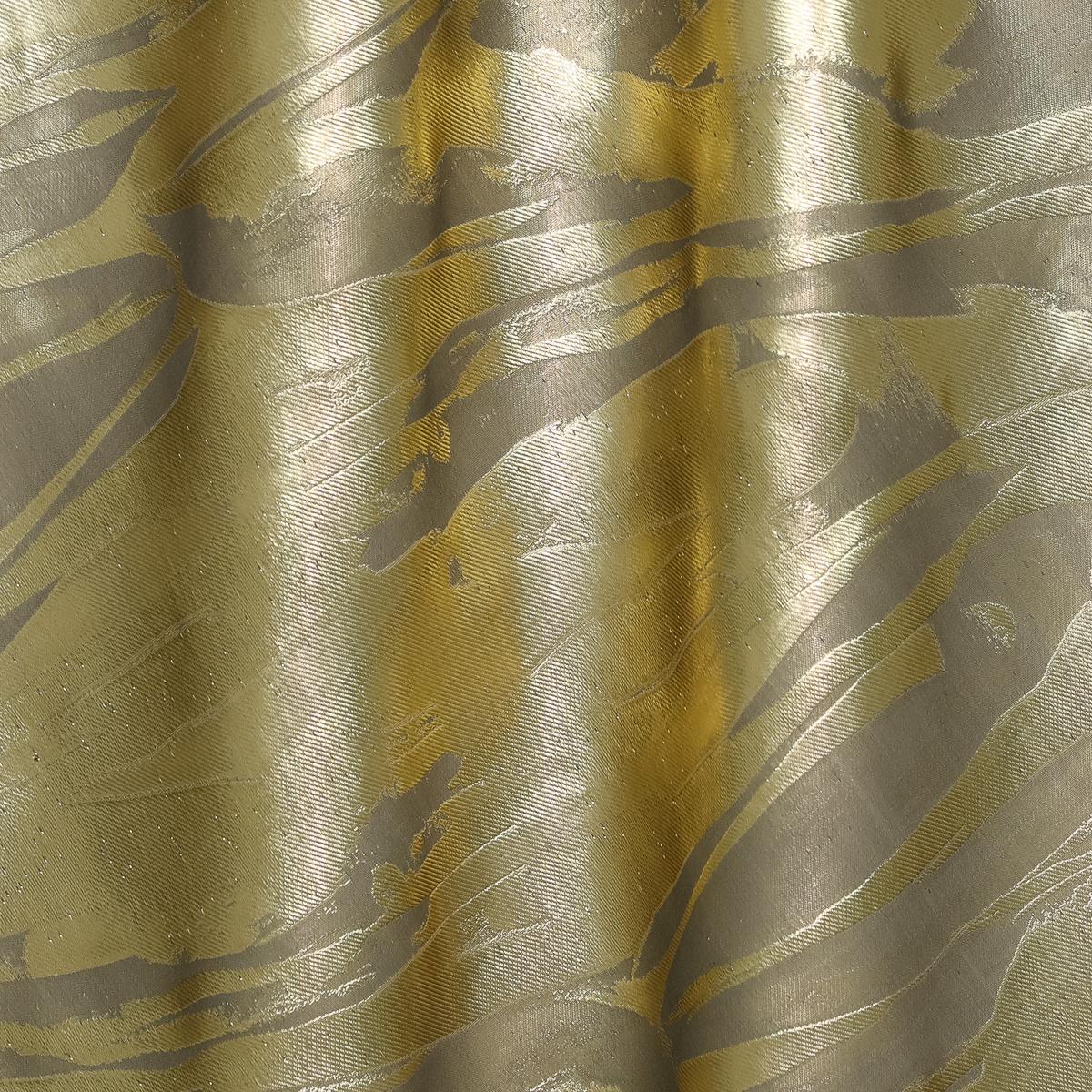 Плательный шёлковый жаккард серо-жемчужное золото