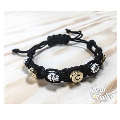 Real Bullet Design Armband Alpha Black Cord Gentlemen