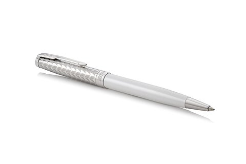 Шариковая ручка Parker Sonnet Metal and Pearl Lacquer CT