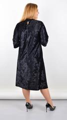 Анабель. Нарядное платье для пышных женщин. Черный.