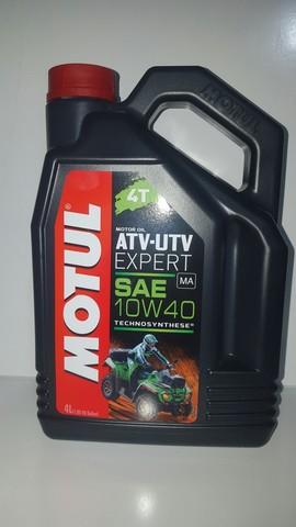 Моторное масло для 4-Х тактных квадроциклов Motul ATV-UTV EXPERT 4T 10w-40 (4л)