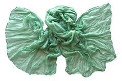Палантин зеленый из вискозы 0272