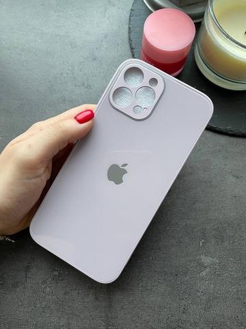 Чехол iPhone 12 /5,4''/ Glass Pastel Full Camera /blueberry/