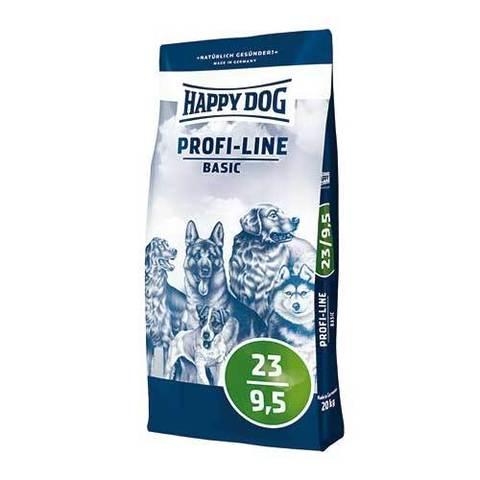 20 кг. HAPPY DOG Сухой корм для взрослых собак с нормальными потребностями в энергии Profi Line Basic