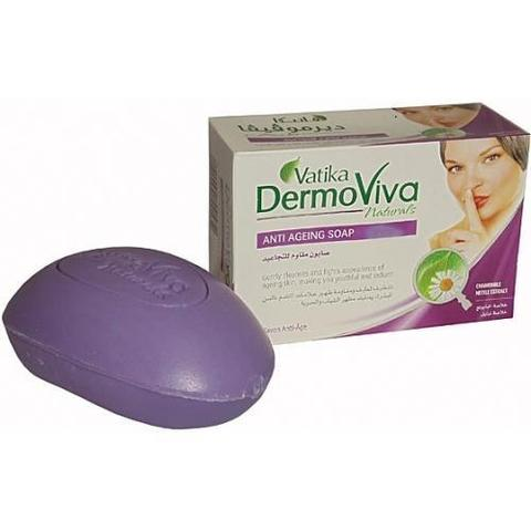Мыло Dabur Vatika Naturals Dermoviva Antiageing Soap - антивозрастное 125гр
