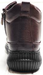 Весенние ботинки женские кожаные Evromoda 535-2010 S.A. Dark Brown.