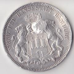 1909, Германия, Гамбург, 3 марки, Ag, P1047