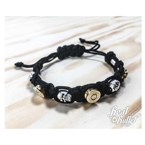Real Bullet Design Armband Alpha Black Cord Lady