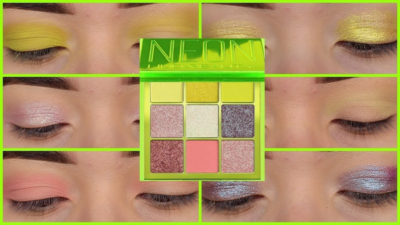 HUDA BEAUTY Obsessions Neon Green палетка теней
