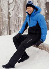 Утеплённый прогулочный лыжный костюм Nordski Montana Blue-Black мужской