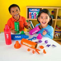 Радужные карандаши Learning Resources как играть