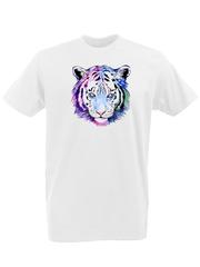 Футболка с принтом Тигр (Tiger) белая 0001