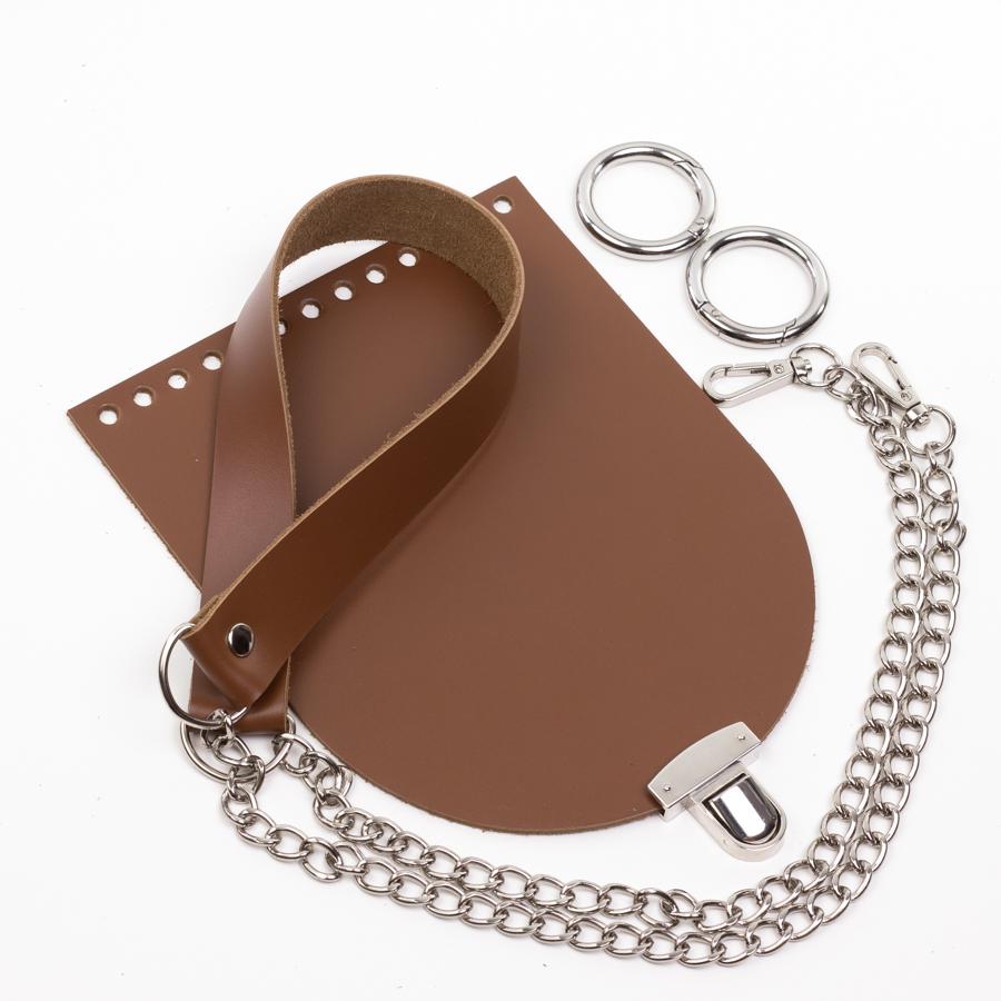 """Комплекты Комплект для сумочки Орео """"Молочный шоколад"""". Ручка с цепочкой и замок """"N12"""" IMG_0934.jpg"""