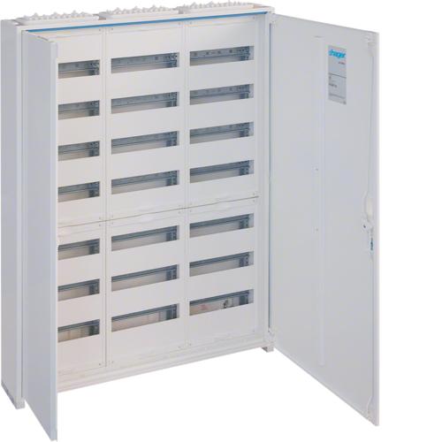 Щиток открытой установки,секционный,с оснасткой,IP44,1100x800x161мм (ВхШхГ),две двери,RAL9010