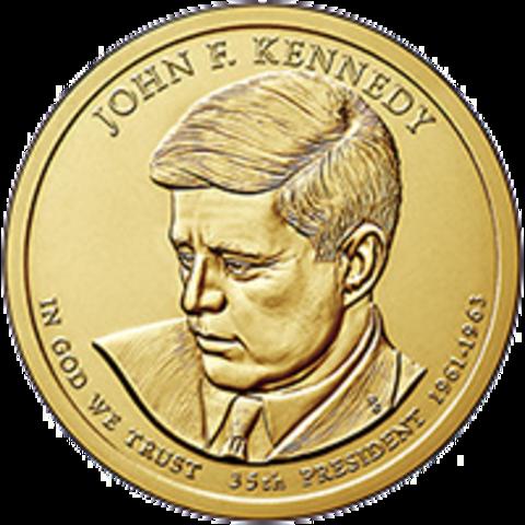 1 доллар 35-й Президент США Джон Кеннеди 2015 год