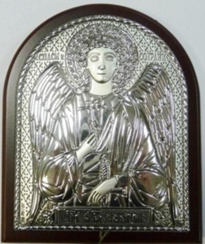 Серебряная икона Ангел Хранитель 8,5х7см