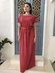 Стелла. Довга сукня великих розмірів. Корал