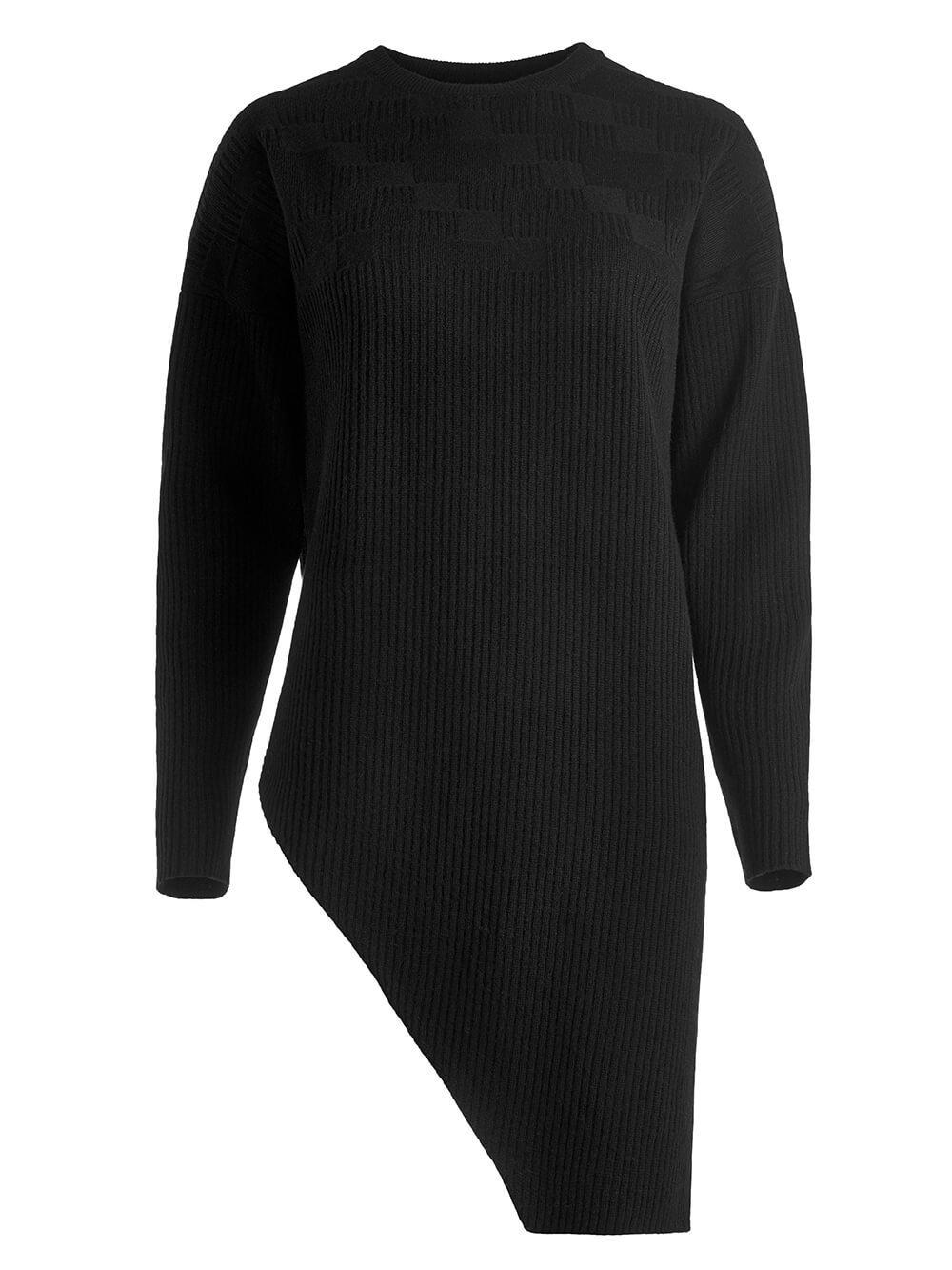 Женский джемпер черного цвета из шерсти и кашемира - фото 1