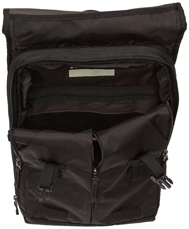 Городской швейцарский рюкзак Victorinox Altmont 3.0 Flapover Backpack с отделением для ноутбука, цвет чёрный, 43х30x10 см., 13 л. (31105001)