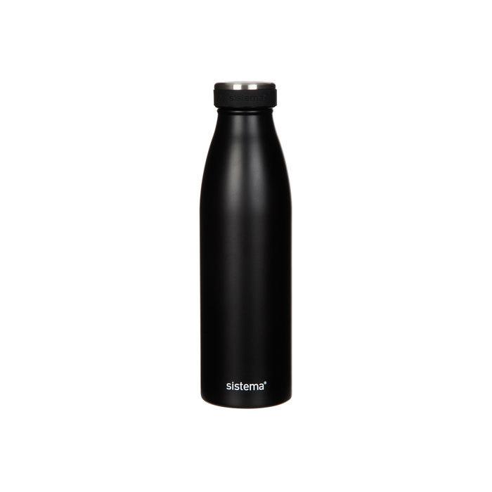 "Термобутылка Sistema ""Hydrate"" 500 мл, цвет Черный"