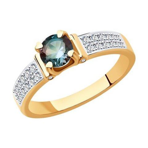 6014173 - Кольцо из золота  с бриллиантами и александритом