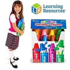 LER3070 Набор для сортировки Радужные карандаши Learning Resources упаковка