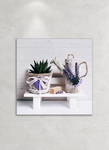 Картина на стекле Сиреневое вдохновение 3, 28х28 см