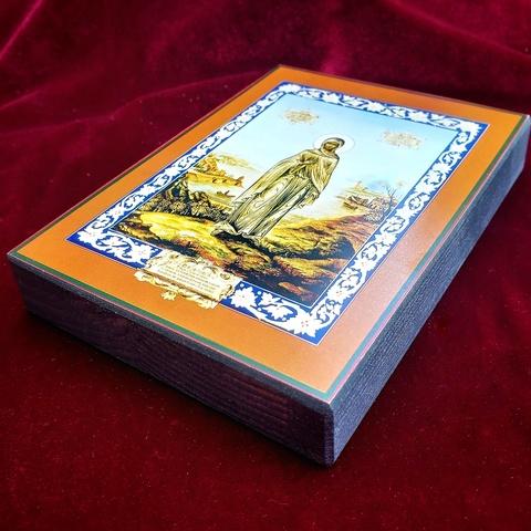 Икона святая Светлана (Фотиния) на дереве на левкасе