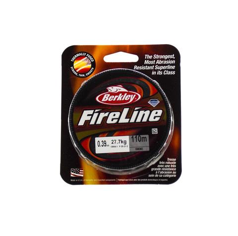 Плетеная леска Berkley Fireline Темно-серая 110 м. 0,39 мм. 27,7 кг. Smoke (1308661)