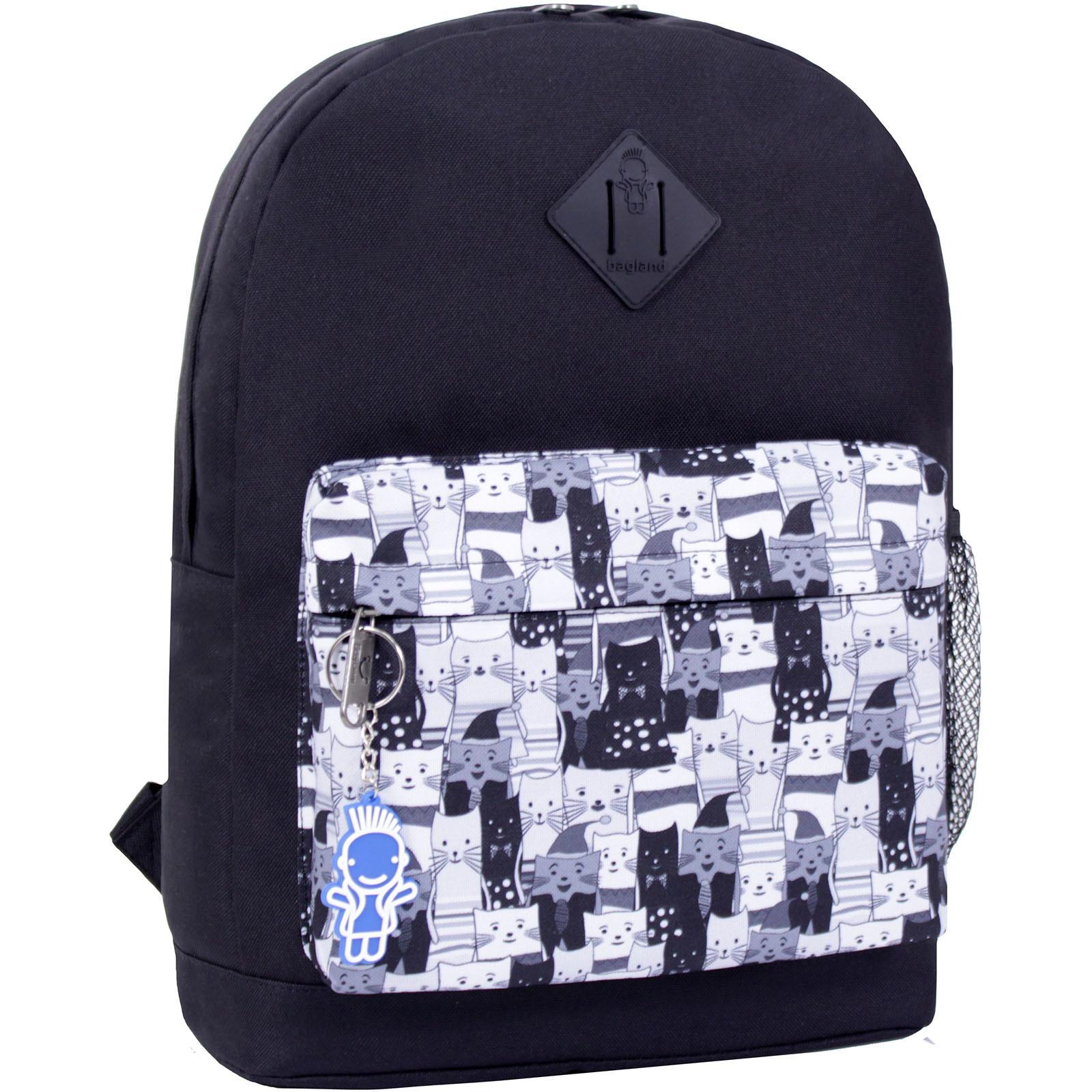 Городские рюкзаки Рюкзак Bagland Молодежный W/R 17 л. черный 457 (00533662) IMG_2378_суб.457_.JPG