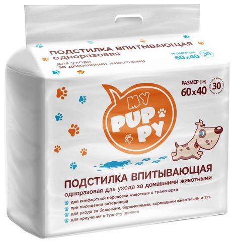 Petmil My Puppy Пеленка-туалет 30 шт подстилка впитывающая 60х40 см